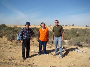 с коллегами-мирмекологами в пустыне Негев, 2014